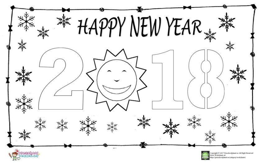 happy new year coloring page for kids – preschoolplanet