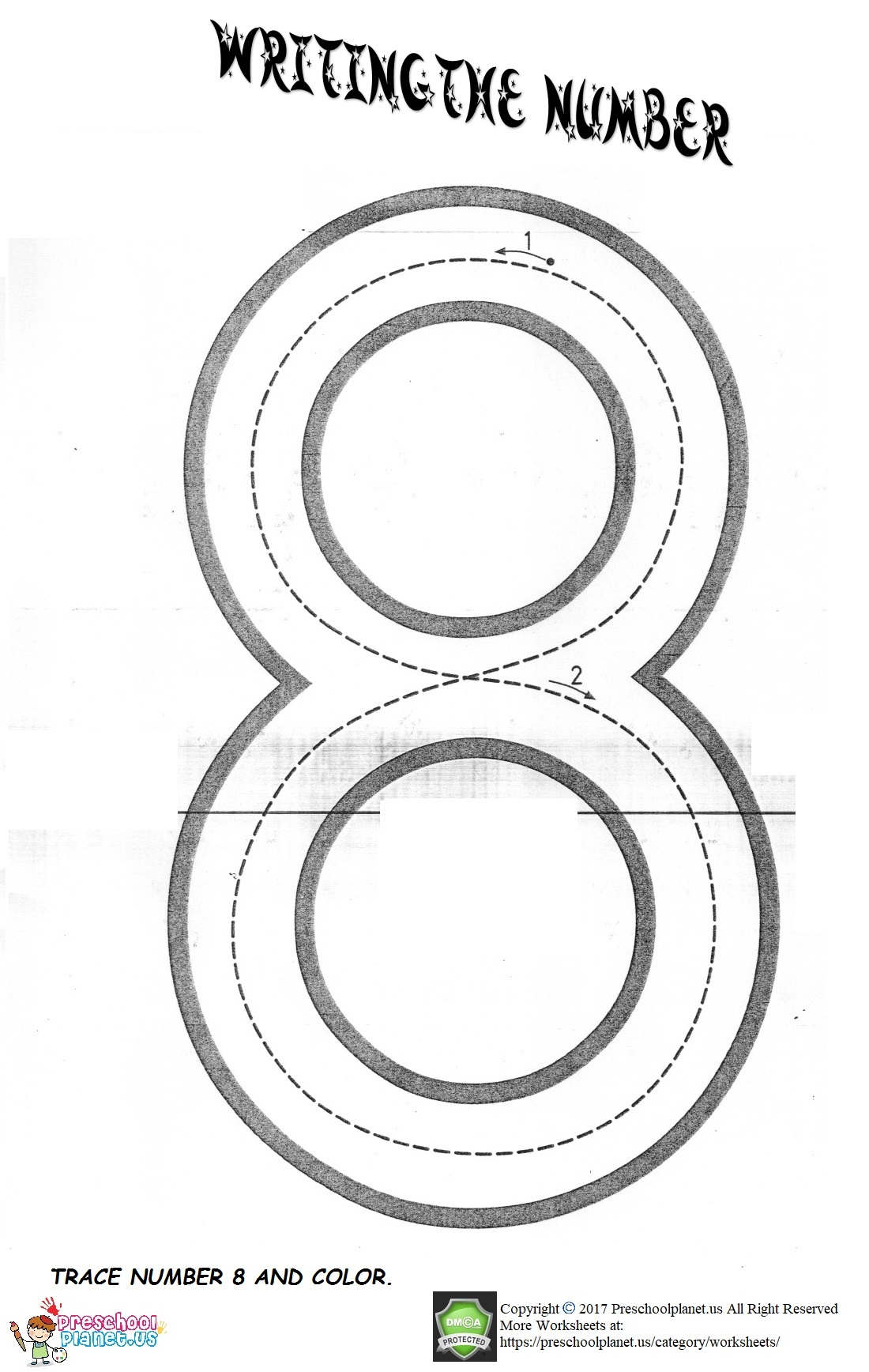 Number 8 Worksheet Preschoolplanet