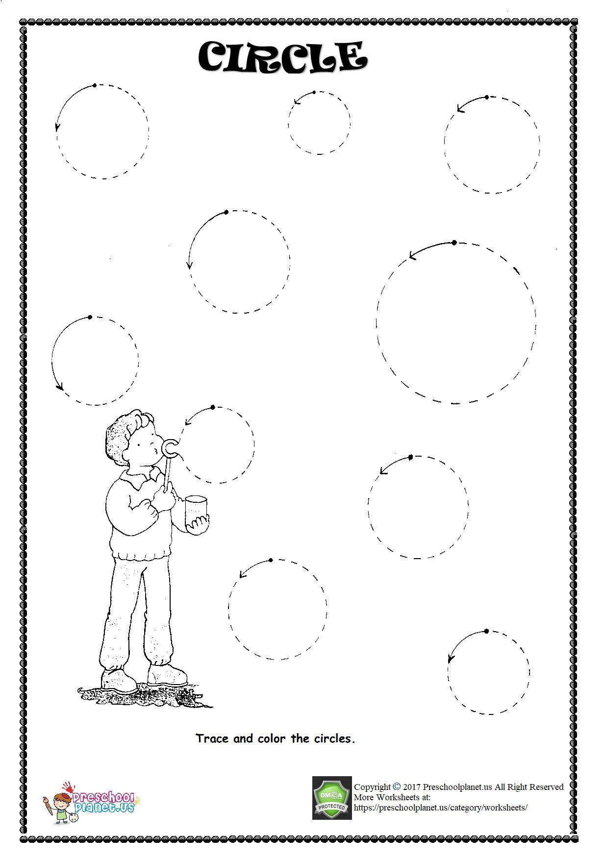 Circles Worksheet Preschool