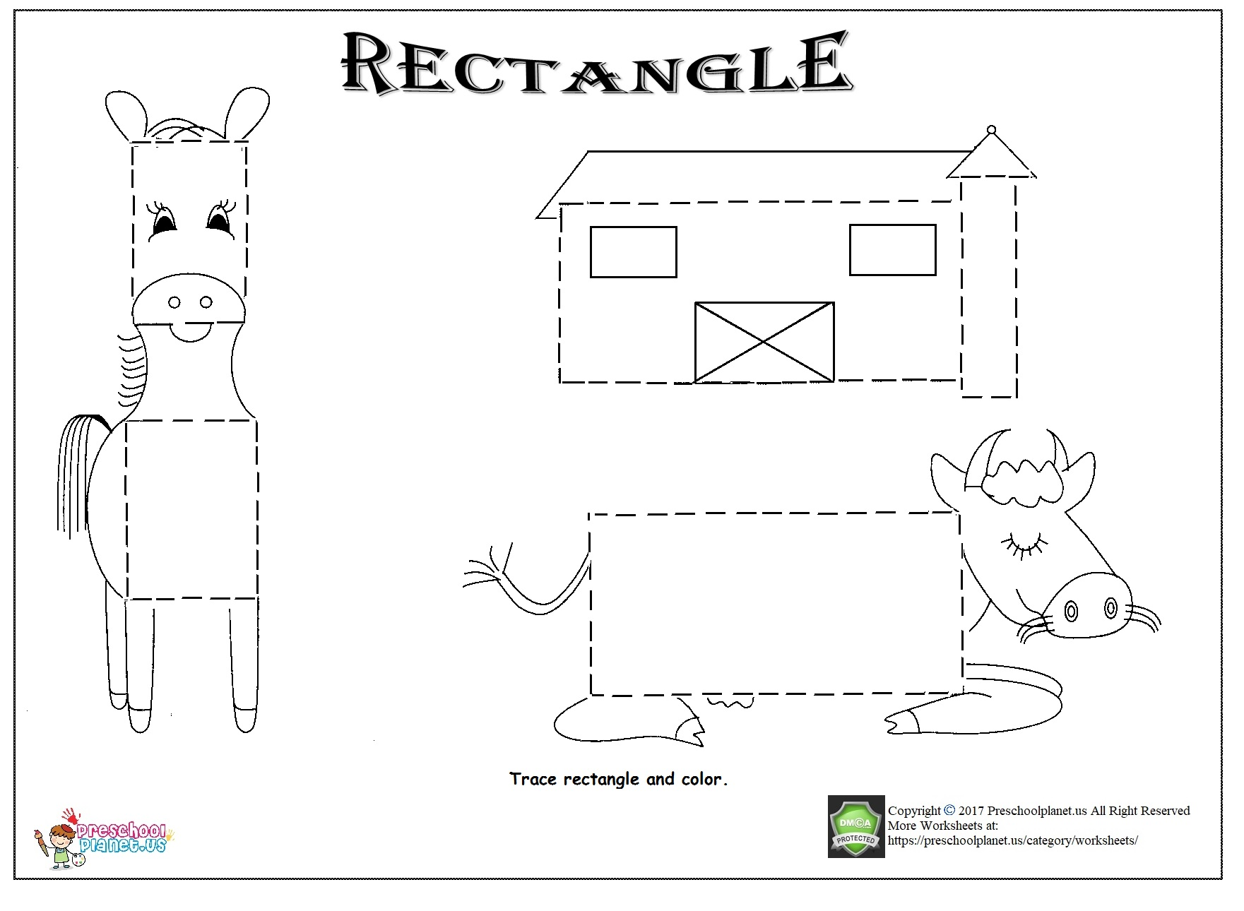 Rectangle Trace Worksheet