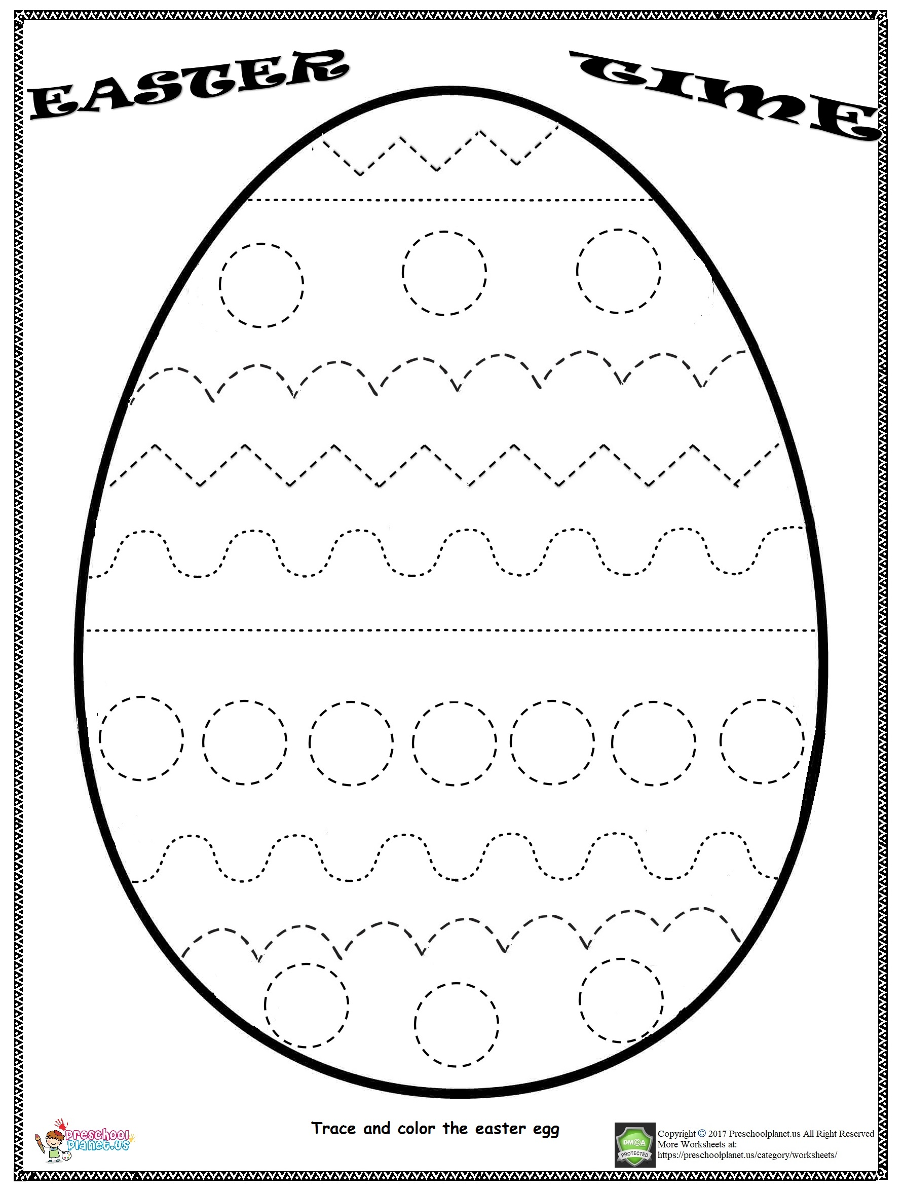 Worksheet For Easter