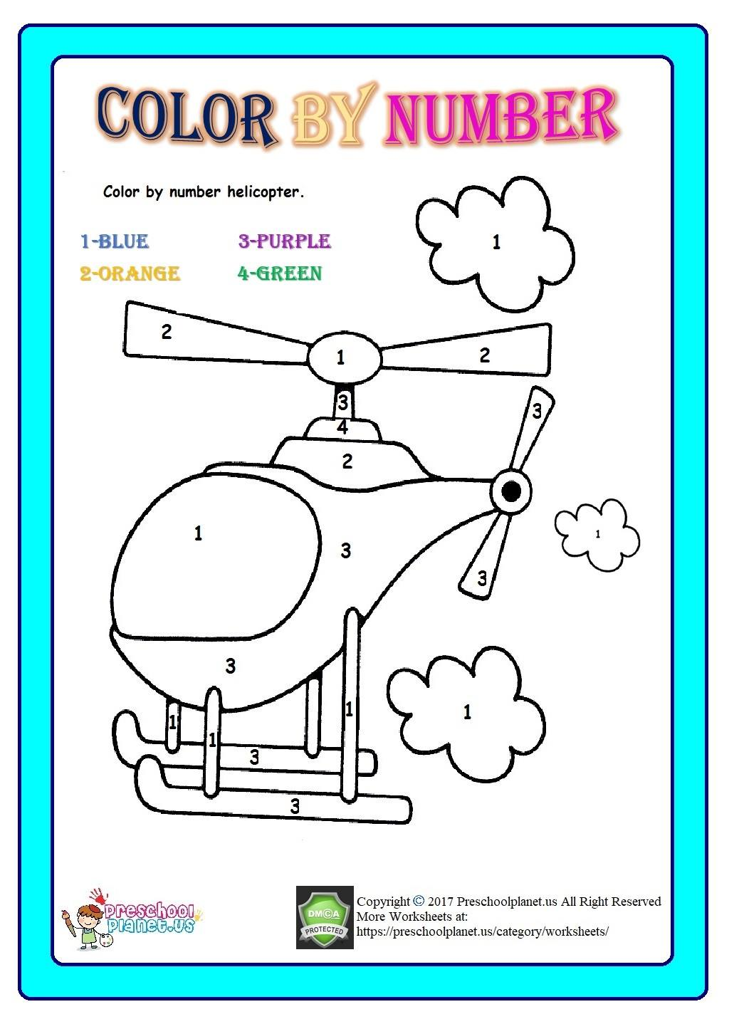 Number Hunt Worksheet For Kids Preschoolplanet