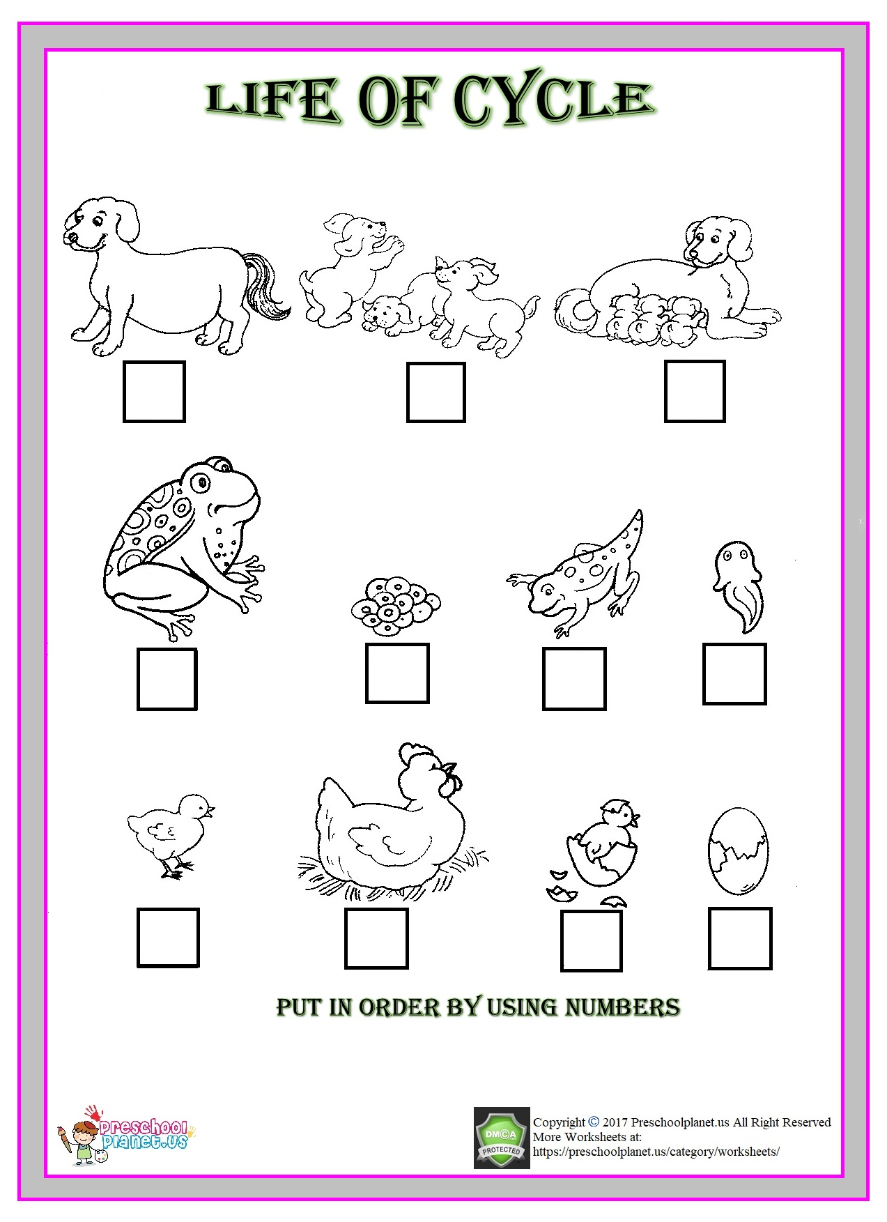 Same And Different Worksheet Preschoolplanet