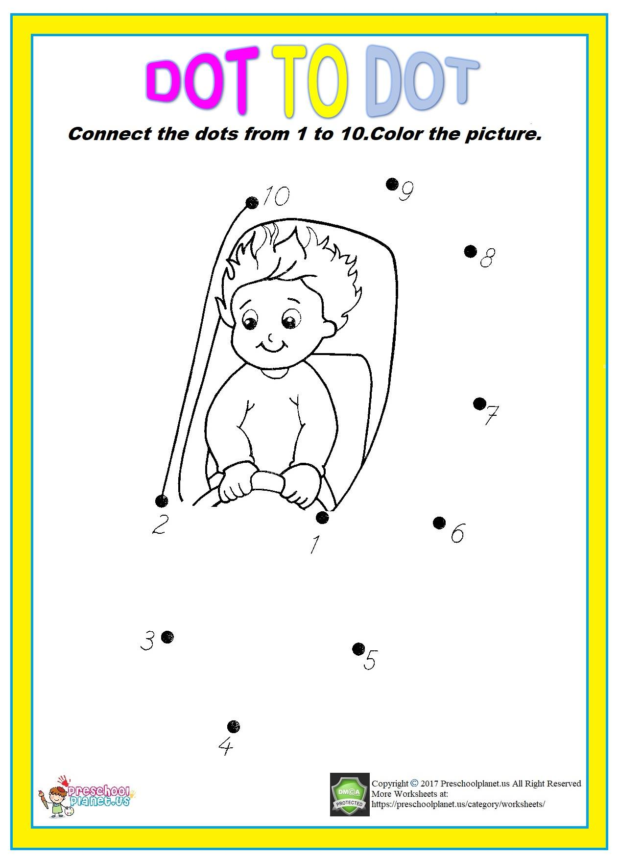 Color By Number Spring Worksheet For Kindergarten