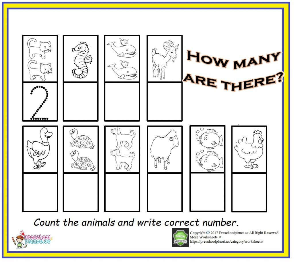 Counting Amp Number Worksheet For Kids Preschoolplanet