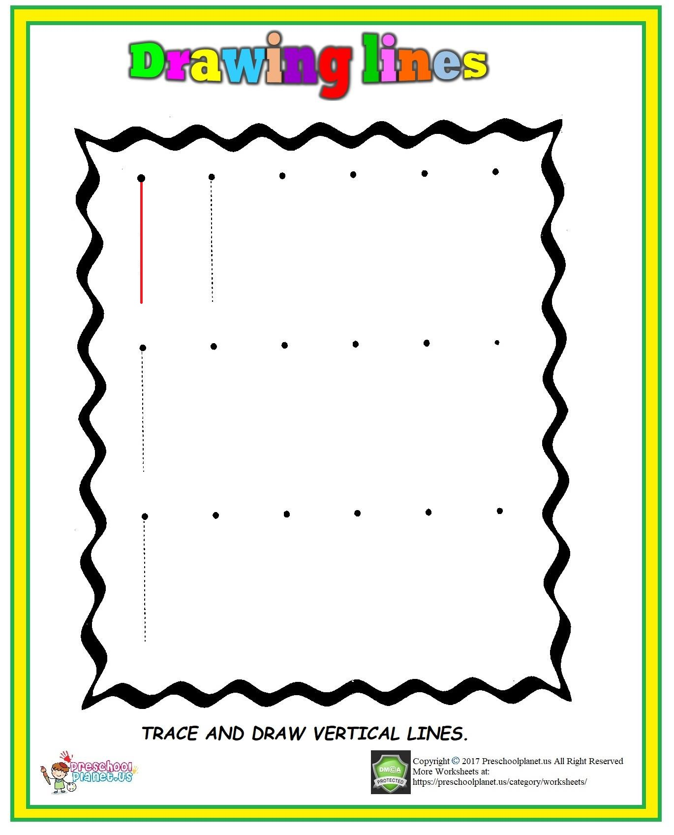 Trace Fish Worksheet Preschoolplanet