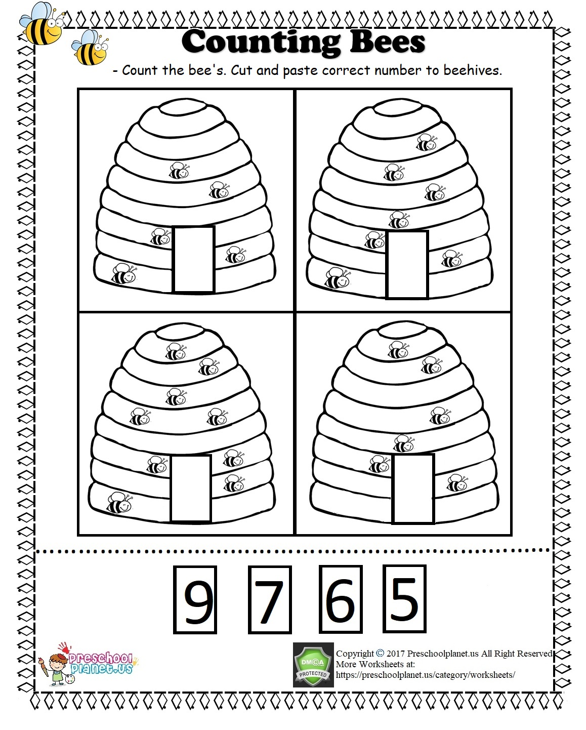 Printable Five Senses Worksheet Preschoolplanet
