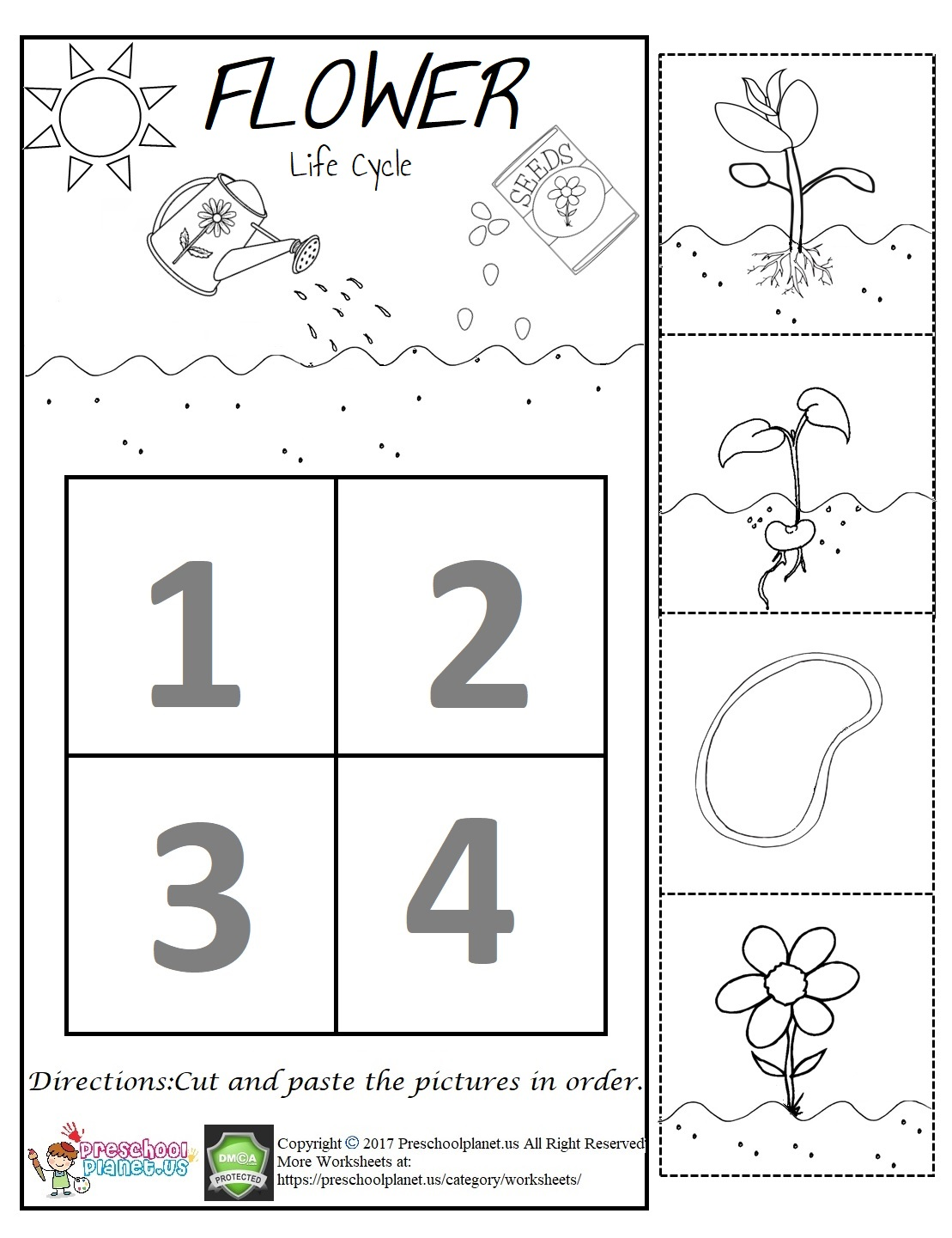 Spring Worksheet Preschoolplanet