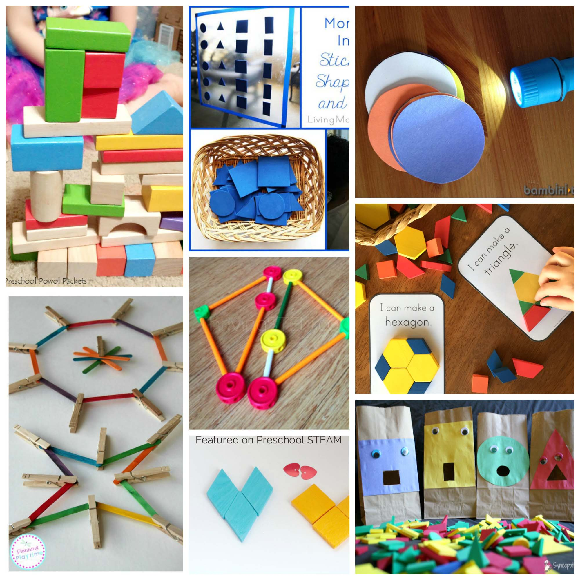 Printables Of Activities For Shapes For Kindergarten