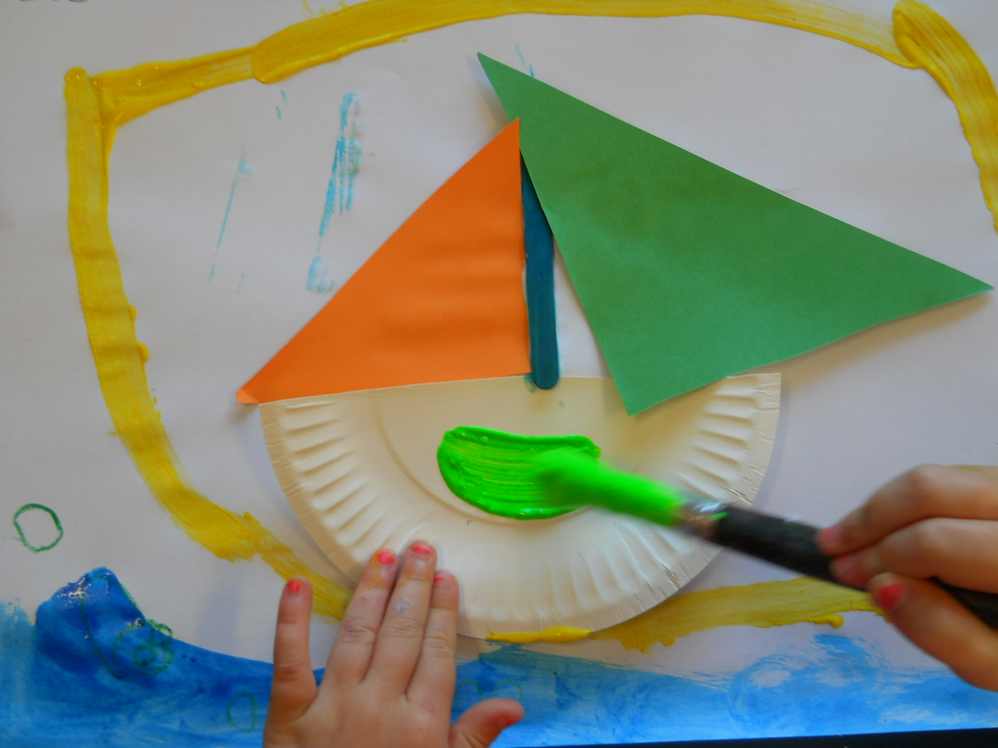 Paper Plate Boats
