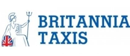 Britannia Taxis - back of shirt sponsor of Prescot Cables FC