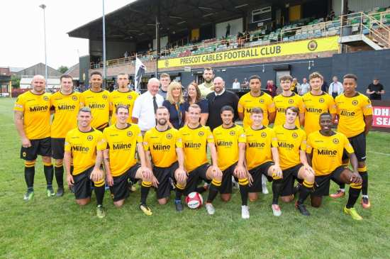 SPONSORSHIP DEAL HELPS PRESCOT CABLES FC FIND THE BACK OF THE NET