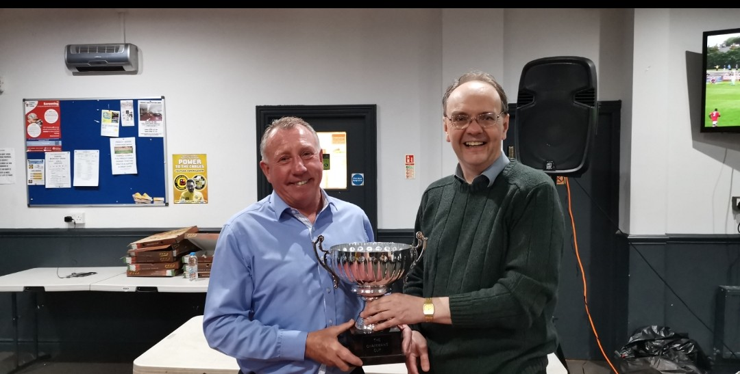Tony Carroll receives the Chairman's Cup