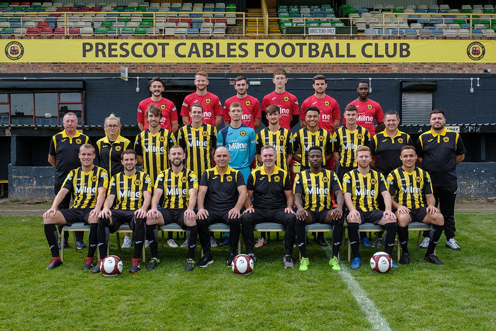 The Prescot Cables First Team Squad