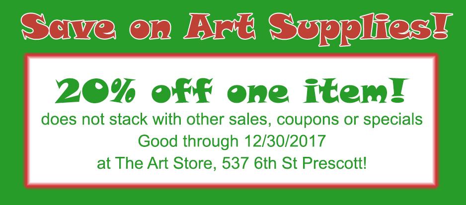 Prescott Art Store Coupon Art Supplies Christmas
