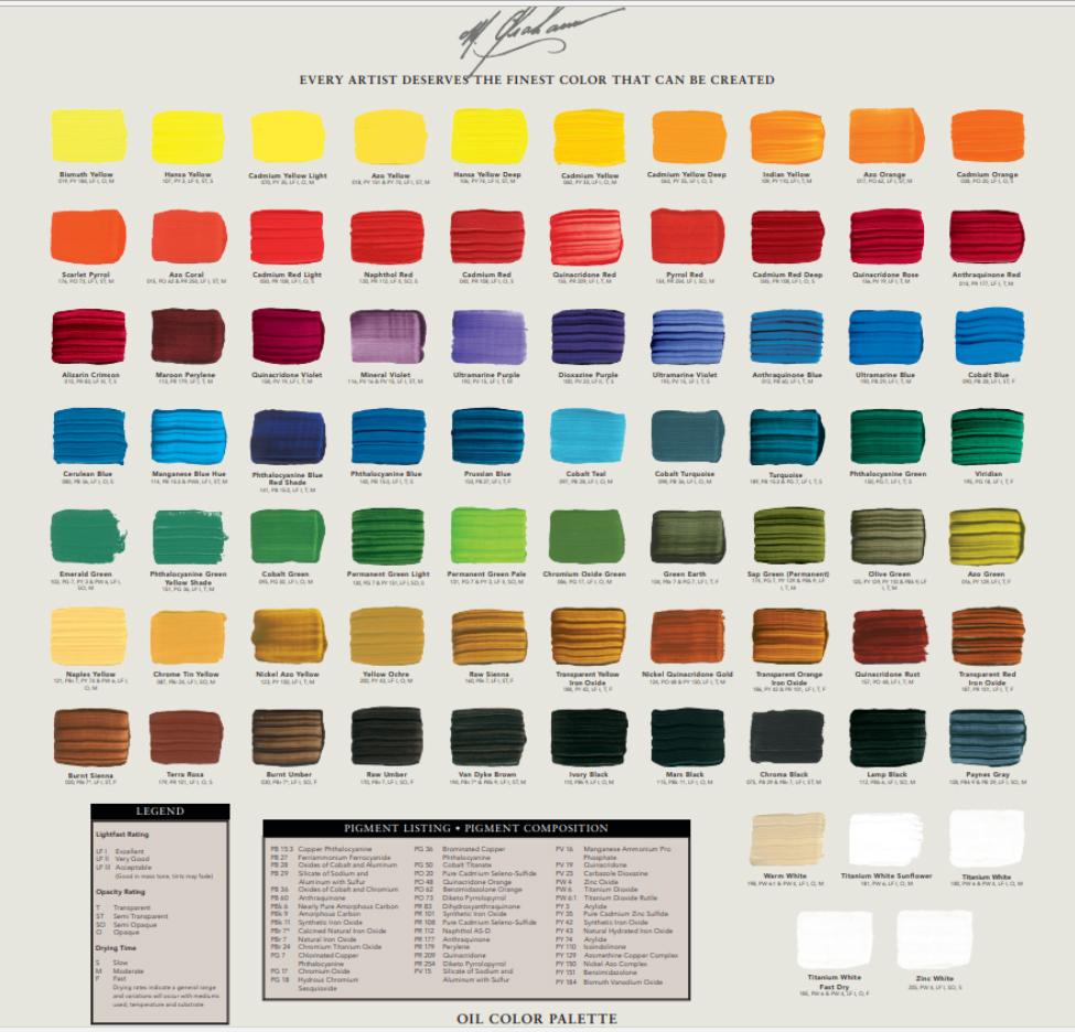 M. Graham debuts 25 new oil colors