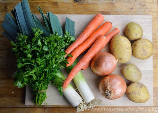 Leeks Parsley Onions Potatoes Carrots