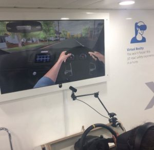 The road safety related car simulator which was very popular with all of the students & staff