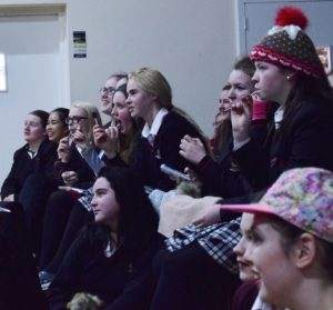 The girls enjoying the show and soaking up the atmosphere of this years 'Pres Got Talent'