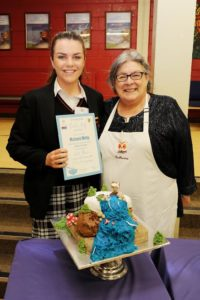 Fifth Year student Michaela Welby came third in the National Ceist bake off