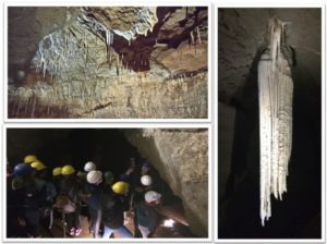 Some of the amazing dripstone features at the Doolin cave along with the Great Stalactite which is the longest free-hanging stalactite in the Northern Hemisphere.