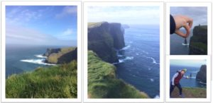 The Fifth year Geography students visiting the spectacularly breath-taking Cliffs Of Moher
