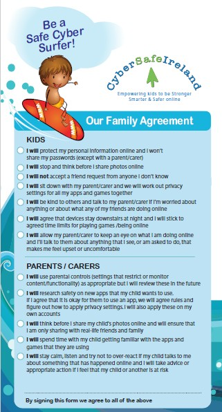 Internet Safety for Parents Cyber-Family-Agreement