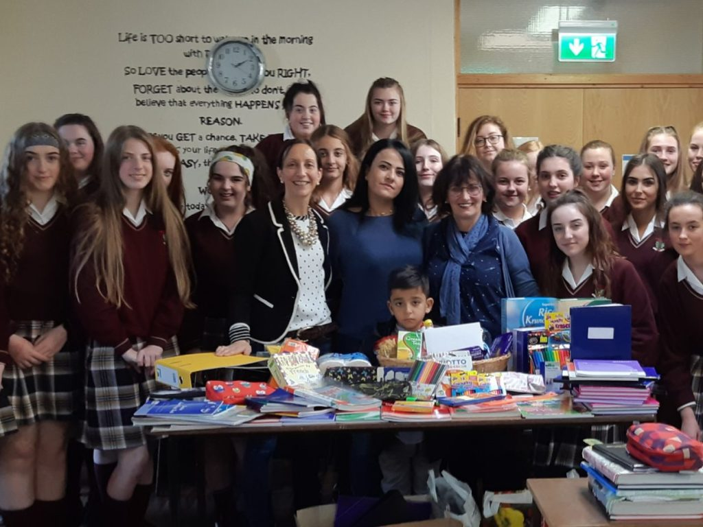 Shirin was overwhelmed by the kind donations of school materials given by staff and students from The Pres and also for the lovely hamper they provided for them as they move into their new home.