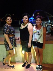 """The lady on the left was dubbed the """"stylist of the night"""" by her friends."""