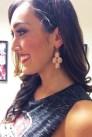 Jewelry closeup: KDD earrings.