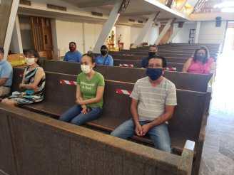 NS Pilar en misa