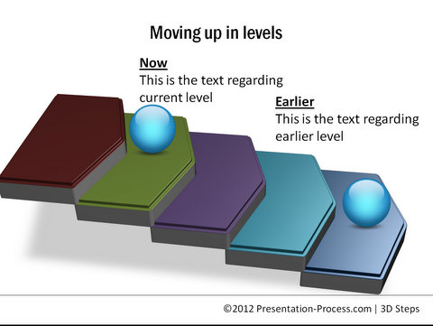 3D Steps from PowerPoint CEO Pack 1