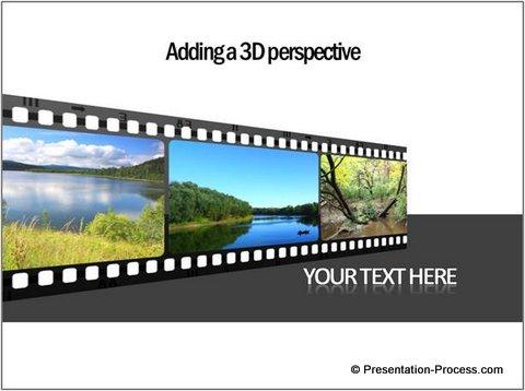 Classy 3D PowerPoint Filmstrip Template