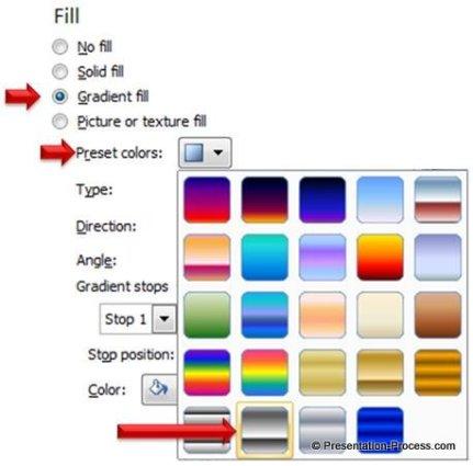 Chrome 2 Gradient Fill for Metallic Finish