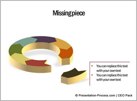 Concept showig Missing Piece