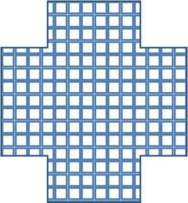 Filled Cross Shape PowerPoint