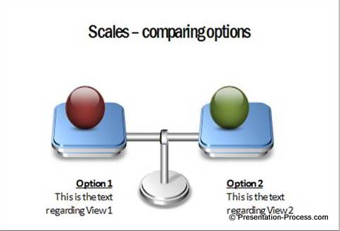 powerpoint scales options