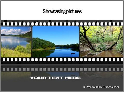 Showcase Pictures in Timeline PowerPoint