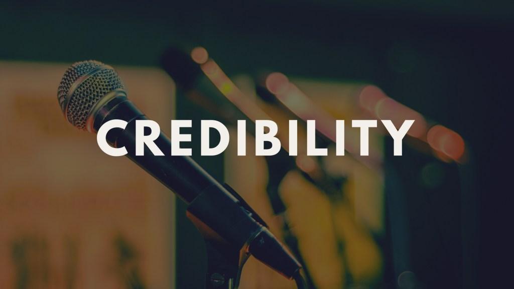Presentations credibility