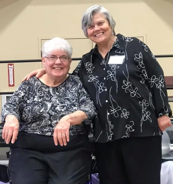 Sister Pat Davis, PBVM, founder and former director, with Christa Hanson, current director, at the 25th Anniversary of the Learning and Loving Education Center in Morgan Hill, California