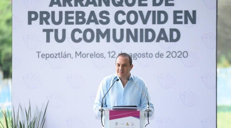 """Cuauhtémoc Blanco puso en marcha el programa """"Pruebas Covid en Comunidades"""""""