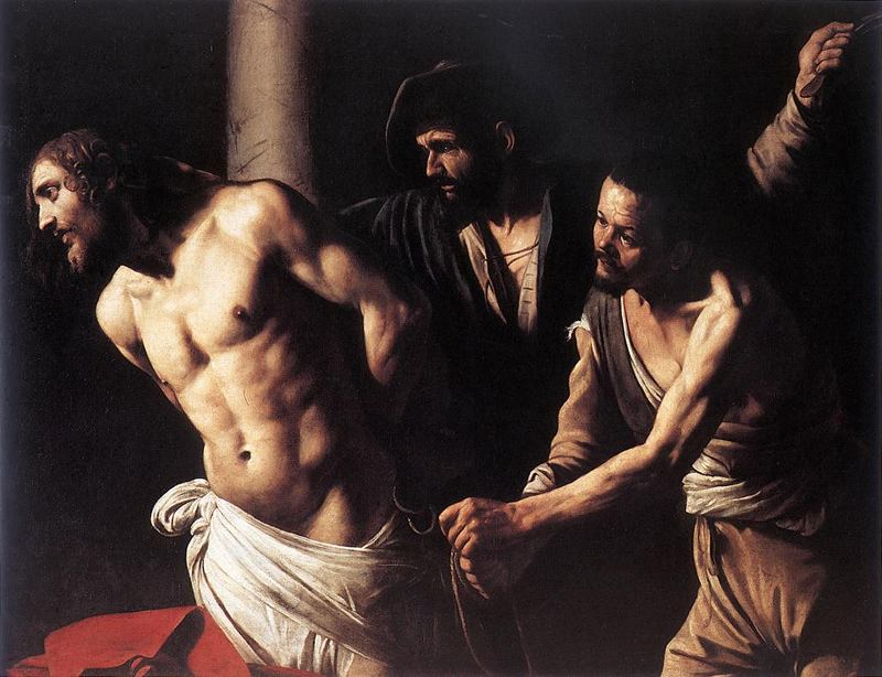 Jesus na coluna - Caravágio