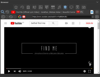 Browser: YouTube selection