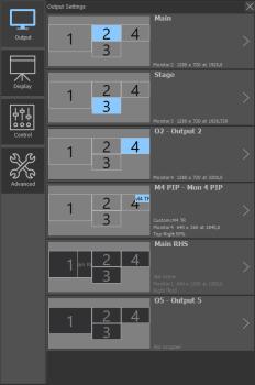 Settings: Output settings