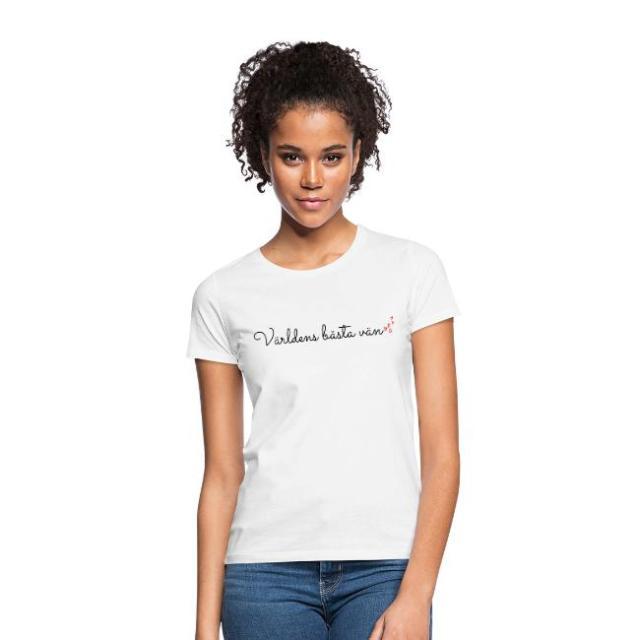 T-shirt dam - Världens bästa vän Image