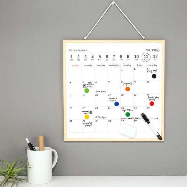 Månadsplanerare - Magnetisk Whiteboard Kalender Image