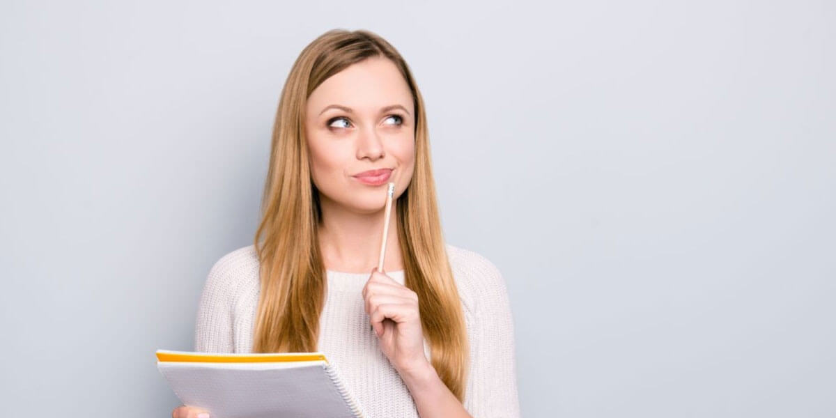 Lady Wondering How To Prepare A Presentation