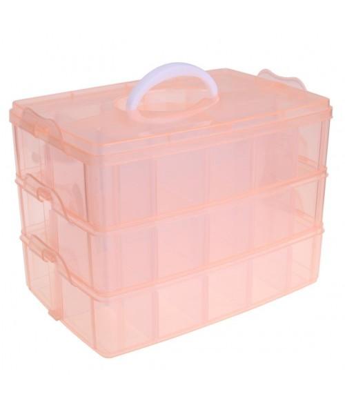 boite de rangement plastique bijoux apprets 30 compartiments