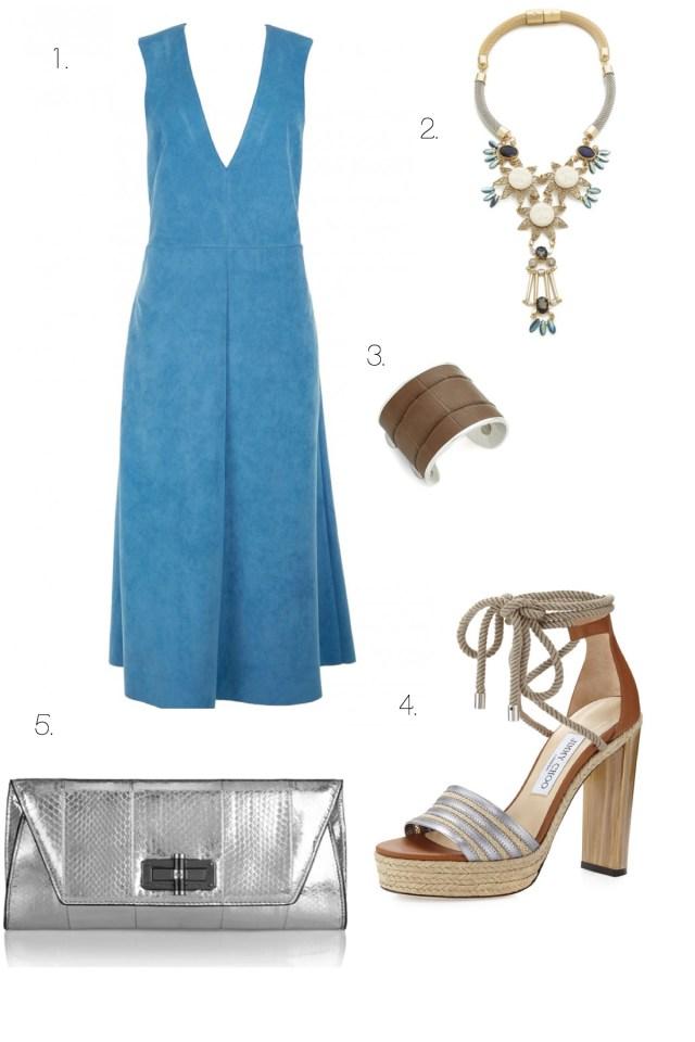 midi dress and sandals