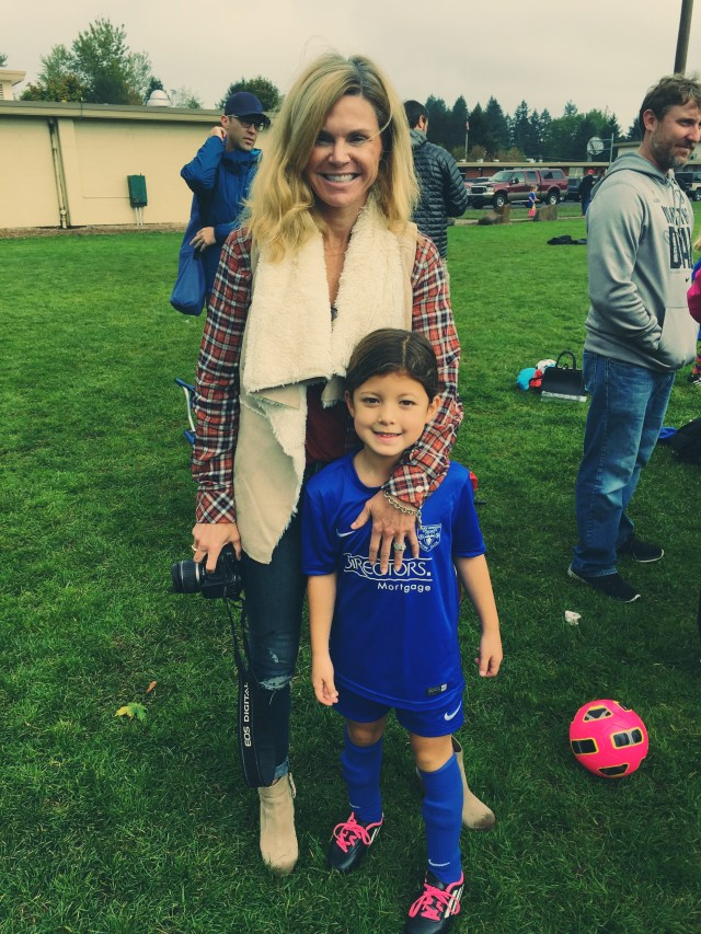 With my goddaughter after her soccer game
